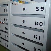 К.Маркса 80 Установлены новые почтовые ящики в подъездах